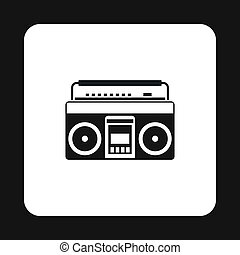Boombox or radio cassette tape player icon