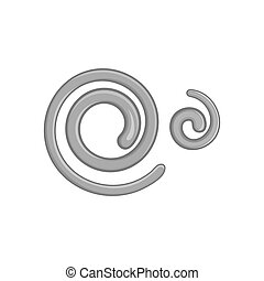 Parasitic nematode worms icon, - icon in black monochrome...