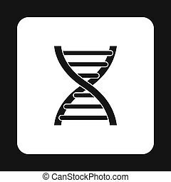 DNA icon in simple style
