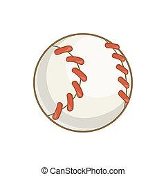 Baseball ball icon, cartoon style - Baseball ball icon in...