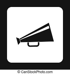 Retro megaphone icon, simple style - icon in simple style on...