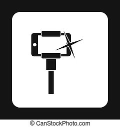 Selfie monopod stick icon, simple style - icon in simple...