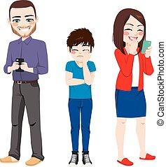 Smartphone Addiction Parents - Parents smartphone addiction...