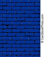 Dark Blue Wall - A dark blue old and damaged brick wall