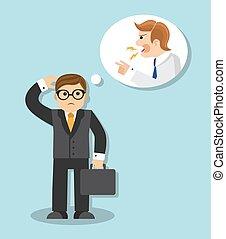 businessman afraid - sad businessman is afraid and thinks...