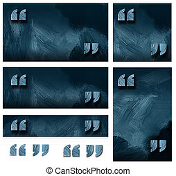 Quotation marks graphic background