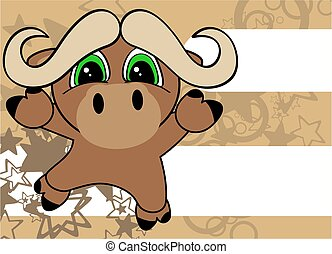 sweet little ox baby cartoon card - sweet little ox baby...