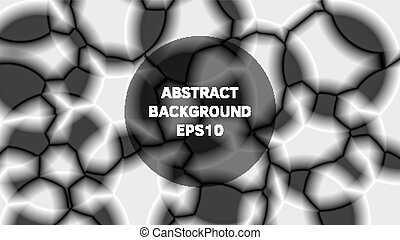 Abstract background in black and white style.