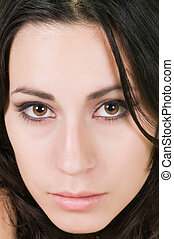 Latina - Closeup on the face of a pretty young Latina