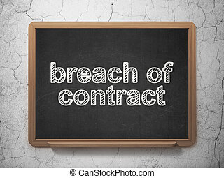 Law concept: Breach Of Contract on chalkboard background -...