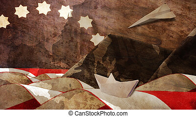 Veterans Day. Flag