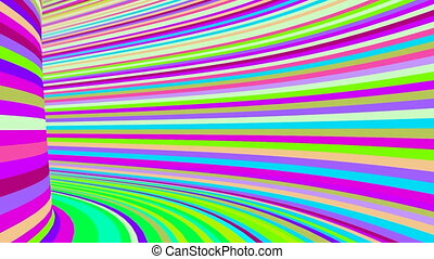 Colorful tunnel - High speed move through colorful tunnel