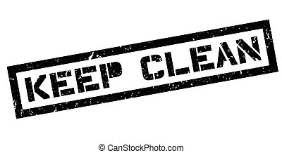 Keep Clean rubber stamp - Keep Clean, rubber stamp on white....