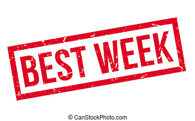 Best week rubber stamp on white. Print, impress, overprint.