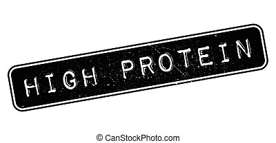 High Protein rubber stamp - High Protein, rubber stamp on...