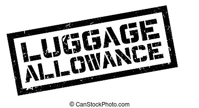 Luggage Allowance rubber stamp