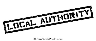 Local Authority rubber stamp on white. Print, impress,...