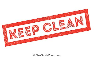 Keep Clean rubber stamp - Keep Clean, rubber stamp on white....