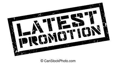 Latest Promotion rubber stamp on white. Print, impress,...