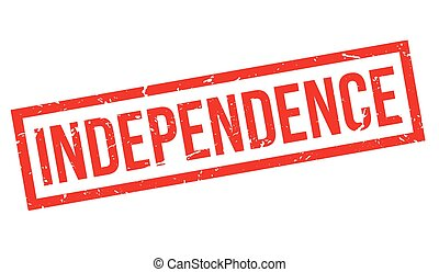 Independence rubber stamp - Independence, rubber stamp on...