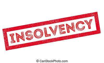 Insolvency rubber stamp - Insolvency, rubber stamp on white....