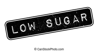 Low Sugar rubber stamp on white. Print, impress, overprint.