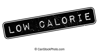 Low Calorie rubber stamp on white. Print, impress,...