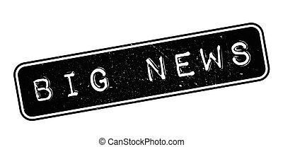 Big news rubber stamp on white. Print, impress, overprint.