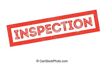 Inspection rubber stamp - Inspection, rubber stamp on white....