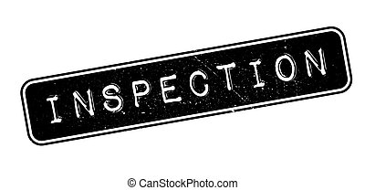 Inspection rubber stamp - Inspection, rubber stamp on white....
