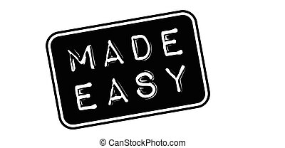 Made Easy rubber stamp on white Print, impress, overprint