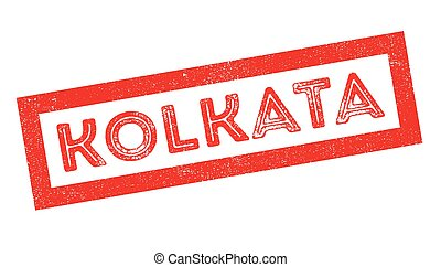 Kolkata rubber stamp - Kolkata, rubber stamp on white Print,...