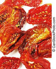 sol, secado, Tomates