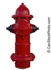 Red Fire Hydrant on White
