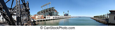 AT&T Park and McCovey Cove in Wide-Angle shot. Taken from...