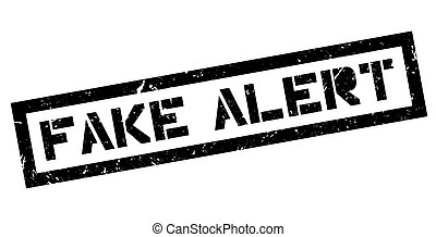 Fake Alert rubber stamp on white. Print, impress, overprint.