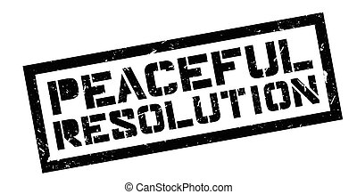 Peaceful Resolution rubber stamp on white. Print, impress,...