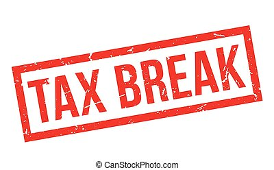 Tax Break rubber stamp on white. Print, impress, overprint.