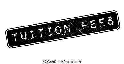Tuition Fees rubber stamp on white. Print, impress,...