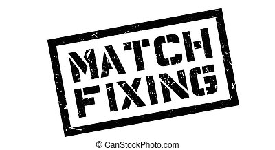 Match Fixing rubber stamp on white. Print, impress,...