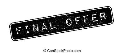 Final Offer rubber stamp on white. Print, impress,...