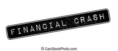 Financial Crash rubber stamp on white. Print, impress,...
