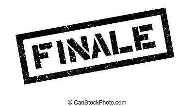 Finale rubber stamp on white. Print, impress, overprint.