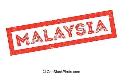 Malaysia rubber stamp on white Print, impress, overprint