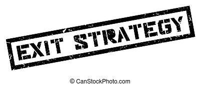 Exit Strategy rubber stamp