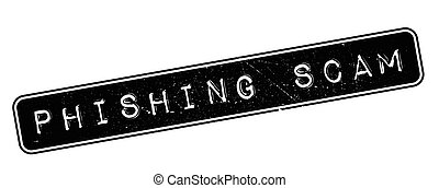 Phishing Scam rubber stamp on white. Print, impress,...