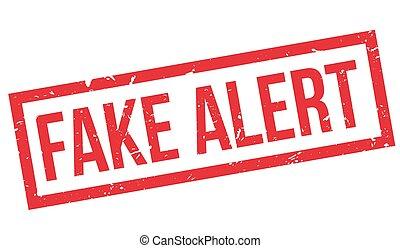 Fake Alert rubber stamp on white. Print, impress, overprint.