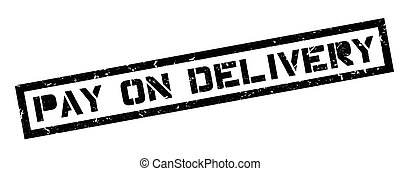 Pay On Delivery rubber stamp on white. Print, impress,...