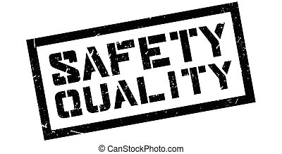 Safety Quality rubber stamp on white. Print, impress,...