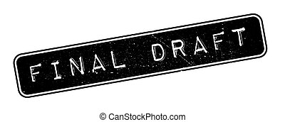 Final Draft rubber stamp on white. Print, impress,...